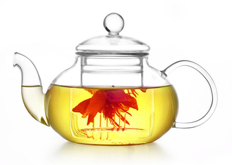 50 OZ Clear Heat Resistant Glass Teapot , Heat Proof Glass Tea Kettle