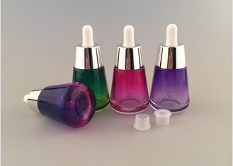 1 Oz Cosmetic Glass Bottles , Eco Friendly Cosmetic Containers Screw Cap