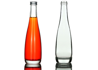 330ml 500ml Glass Whiskey Bottle / Elegant Clear Glass Wine Bottles
