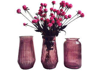 China Modern Decorative Glass Vases / Large Decorative Clear Glass Vases supplier