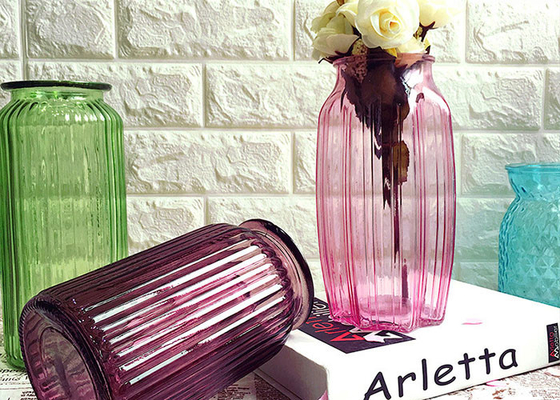 Modern Decorative Glass Vases / Large Decorative Clear Glass Vases