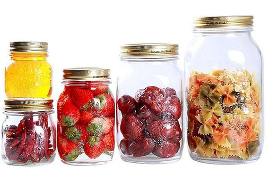 Transparent Round Large Sealable Glass Jars 170ml 300ml 500ml 1000ml