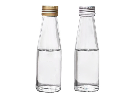 Custom Small Glass Juice Bottles / 4 Oz Glass Bottles High White Glass
