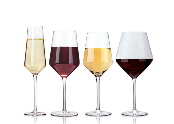 China Small Long Stem Wine Glasses 230ml-700ml Crystal Glass Eco Friendly Feature supplier