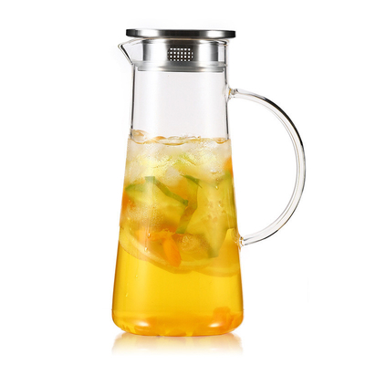 High Borosilicate Clear Glass Water Pitcher / Glass Water Filter Pitcher