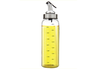 Round Olive Oil Dispenser Bottles Food Grade Stainless Steel Dropper