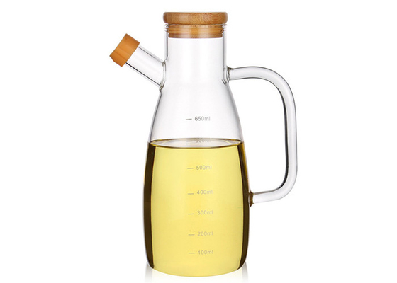High Borosilicate Glass Olive Oil Bottle , Olive Oil Bottle Holder