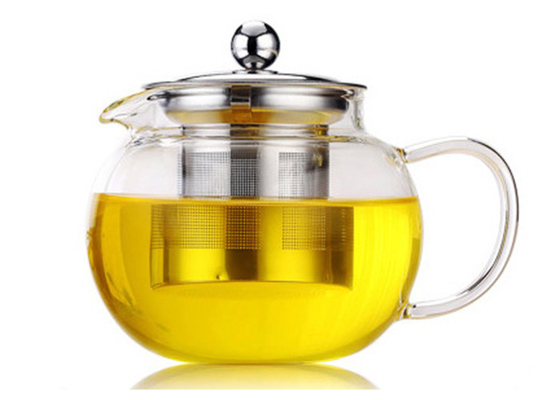 Pyrex Coffee Heat Resistant Glass Teapot , Borosilicate Glass Tea Kettle