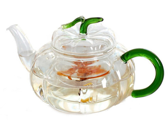 CE Standard Heat Resistant Glass Teapot / Clear Glass Tea Kettle