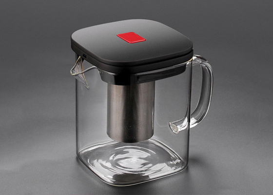 Creative Borosilicate Glass Teapot Square Glass Bubble 600ml 1100ml 1300ml