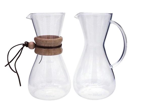Personalized Heat Resistant Glass Coffee Pot High Borosilicate Material