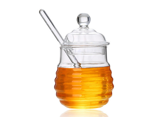 Clear Honey Packaging Containers With Stir Bar Household Honey Bottle