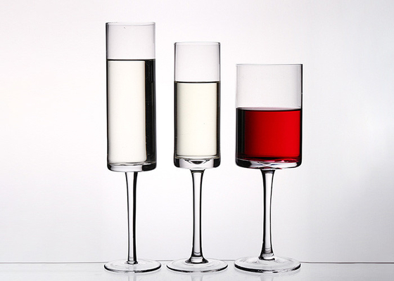 Crystal Glass Red Wine Glasses Goblet Type 180ml - 700ml Capacity Logo Printing OEM