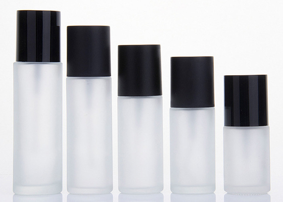 Matte Black Cover Frosted Glass Cosmetic Bottles 5m 10ml 15ml Simple Design