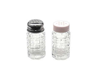 Unique Embossed Round Empty Glass Jars High White Glass 50ml Capacity For Pepper