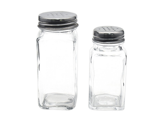 Stainless Steel Shaker Lid Empty Glass Jars Food Grade Clear Color Eco - Friendly