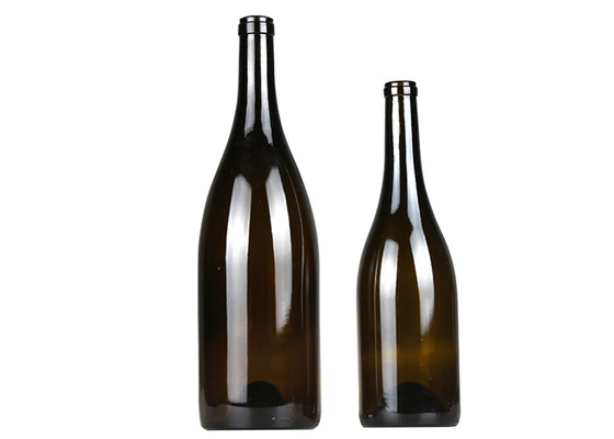 Frosted Empty 750ml Wine Bottles / Dark Green Shatterproof Glass Water Bottle