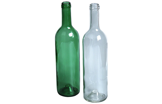 Green Empty Glass Wine Bottles Hot Stamping Surface Customized Size