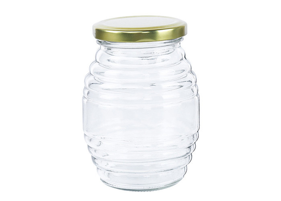 4 Oz Honey Jars Transparent Spiral Storage Tank High Borosilicate Glass
