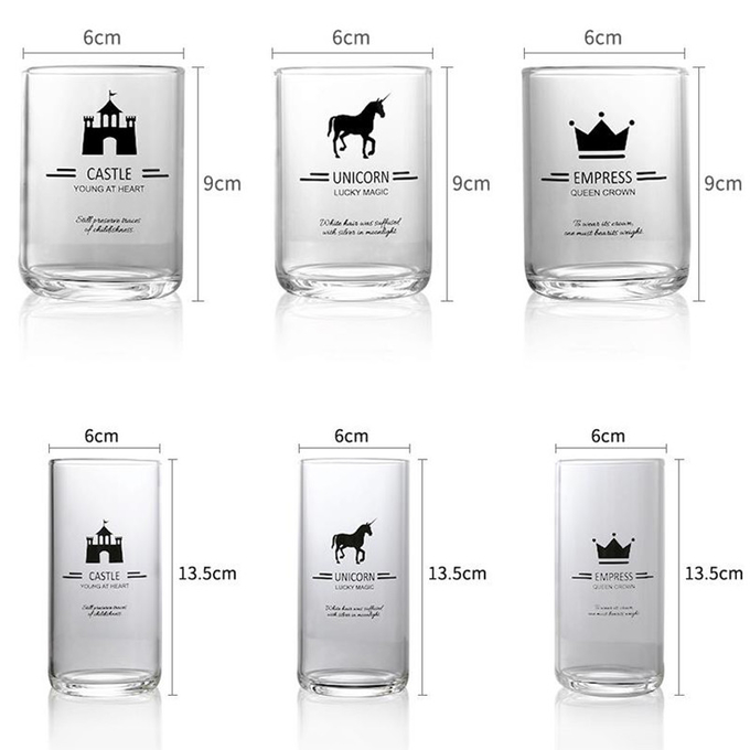 High Borosilicate Personalized Glass Cup , Etched Glass Coffee Mugs