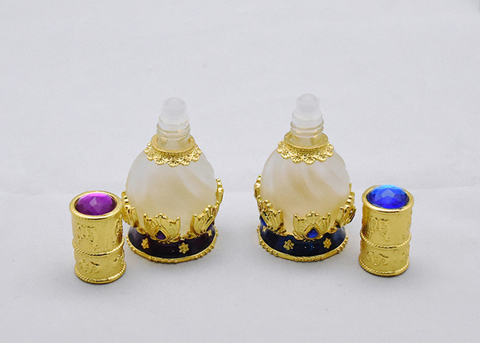 Roll On Empty Glass Jars Fancy Empty Perfume Bottle 12ml Size For Personal Care